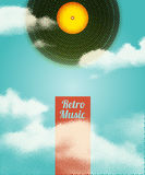Retro Music Halftone Poster. Vector illustration. Retro Music Halftone Poster. Vector illustration Stock Images