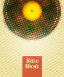 Retro Music Halftone Poster. Vector illustration. Retro Music Halftone Poster. Vector illustration Royalty Free Stock Photo