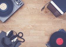 Retro music hero header Royalty Free Stock Image