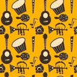 Retro music instruments background Stock Image
