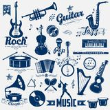 Retro music label. Illustration of retro music label in vintage look Stock Images