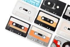 Retro. Music musical nostalgia speaker tape sequence Stock Photo