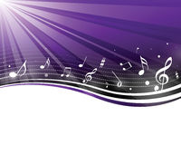 Retro music notes Royalty Free Stock Photography