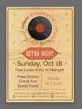 Retro Music Party celebration flyer or template. Stock Image