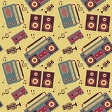 Retro music pattern Royalty Free Stock Photo