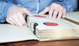 Retro music plates collection. Royalty Free Stock Image