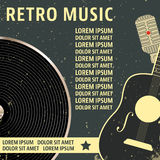 Retro music poster template Stock Photography