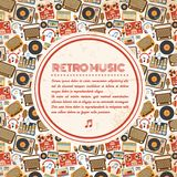 Retro music poster Stock Photography