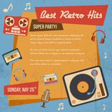 Retro music poster Stock Image