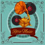 Retro Music Poster Royalty Free Stock Photos
