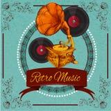Retro Music Poster Royalty Free Stock Photos