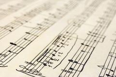 Retro music sheet. Retro handwritten music sheet - abstract art background Royalty Free Stock Images