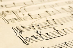 Retro music sheet Royalty Free Stock Photography