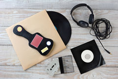 Retro Music Still Life Royalty Free Stock Photos