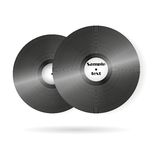 Retro music vinyl records vector background. Retro music vinyl records background vector illustration Stock Images