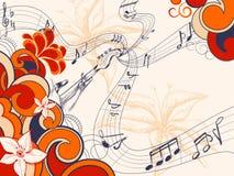Retro musica Immagine Stock
