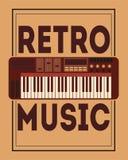 Retro musica, progettazione del manifesto, illustrazione di vettore Fotografia Stock