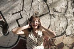 Retro musica urbana Fotografia Stock Libera da Diritti