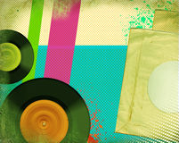 Retro musikaffisch. Popkonst Arkivbilder