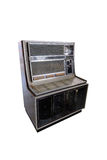 Retro- Musikautomat lokalisiert auf Weiß Stockfoto