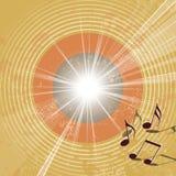 Retro- Musikhintergrund - abstrakte Grungegoldene schallplatte lizenzfreie abbildung