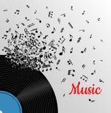 Retro musiktappningaffisch Arkivfoton