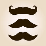 Retro mustache illustration set Stock Photography