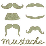Retro mustaches set Royalty Free Stock Photos