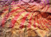 Retro- Muster auf grunge Papier Lizenzfreie Stockbilder