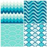 Retro- Muster der Wasserwellen Lizenzfreie Stockbilder