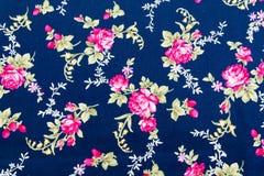 Retro Muster des Gewebes mit Blumenverzierung Stockbilder