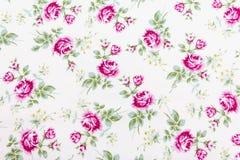 Retro Muster des Gewebes mit Blumenverzierung Lizenzfreies Stockfoto