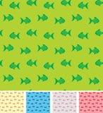 Retro- Muster mit fishies Lizenzfreies Stockfoto