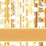 Retro- Muster mit Herbstblättern. ENV 8 Stockbilder