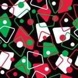 Retro- Muster 50s in den Feiertags-Farben Stockbild