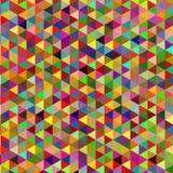 Retro- Muster von geometrischen Formen Bunter Mosaikhintergrund Retro- Hintergrund des geometrischen Hippies Stockfotografie