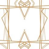 Retro- Muster, Weinlesepartei Große Gatsby-Artfahne oder -postkarte stock abbildung