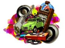 Retro muziek Stock Foto