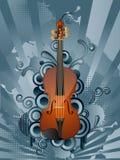 Retro muziekachtergrond Stock Fotografie