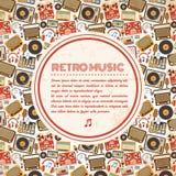 Retro muziekaffiche Stock Fotografie