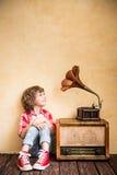 Retro muziekconcept Royalty-vrije Stock Afbeeldingen