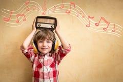 Retro muzyczny pojęcie Obraz Royalty Free