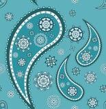 Retro naadloos Paisley (Turkse komkommer) patroon Stock Afbeelding