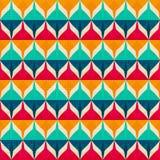 Retro naadloos patroon Royalty-vrije Stock Afbeelding