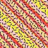 Retro Naadloos Patroon in Memphis Style Design Royalty-vrije Stock Afbeeldingen