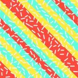 Retro Naadloos Patroon in Memphis Style Design vector illustratie