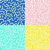 Retro Naadloos Patroon in Memphis Style Design Royalty-vrije Stock Afbeelding