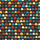 Retro naadloos patroon met de helft cirkels Stock Afbeeldingen