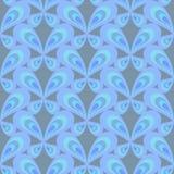 Retro naadloos patroon met eenvoudige vlinders op donkere achtergrond Vlak ornament voor textiel, verpakkend document, drukken, s stock illustratie