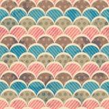 Retro naadloos patroon met grungeeffect Royalty-vrije Stock Afbeelding